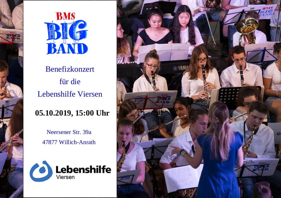 Herzliche Einladung zum Benefizkonzert der Big Band