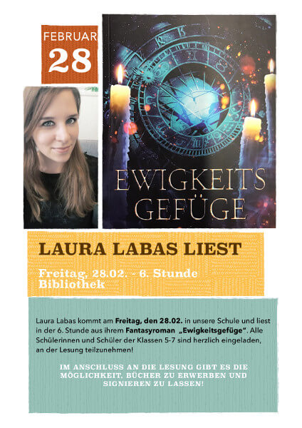 """Laura Labas liest aus ihrem Roman """"Ewigkeitsgefüge"""""""
