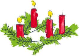 Ein Adventsgruß: Vier Kerzen im Advent