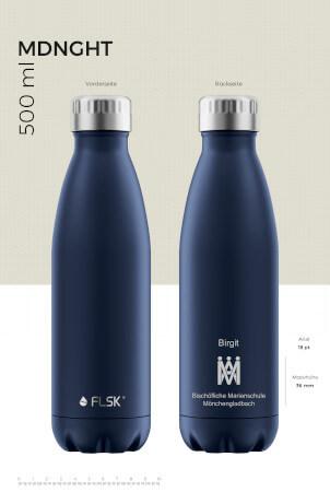 Die neue FSLK-Flasche im Design der Marienschule.